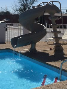 New Slide and New Pool Area at Yellow Diamond Inn
